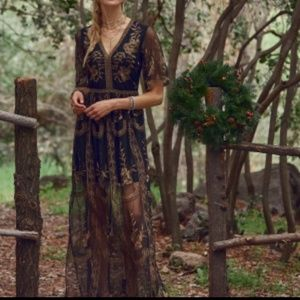 NWT Alter'd State lace maxi dress